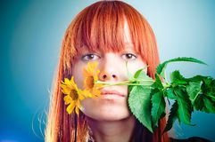 Beautiful young redhead girl Royalty Free Stock Photo