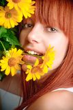 Beautiful young redhead girl Royalty Free Stock Photography