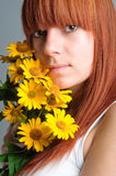 Beautiful young redhead girl Stock Image