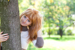Beautiful young redhead teenager woman Stock Photography