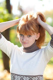 Beautiful young redhead teenager woman Royalty Free Stock Photography