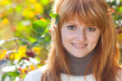 Beautiful young redhead teenager woman Royalty Free Stock Image