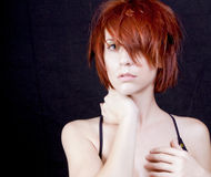 Beautiful young redhead woman Royalty Free Stock Photos
