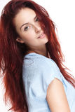 Beautiful young redhead woman. Royalty Free Stock Image