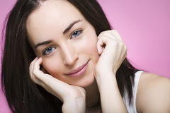 A beautiful young relaxed woman Stock Image