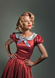 Beautiful young retro pinup blonde royalty free stock image