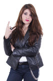 Beautiful young rock girl posing Royalty Free Stock Photography