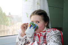 Beautiful young Russian girl Royalty Free Stock Photos
