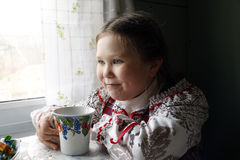 Beautiful young Russian girl Royalty Free Stock Images