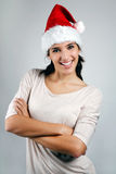 Beautiful young santa girl Stock Images