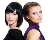 Beautiful young sensual glamour women stock photo