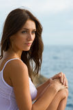Beautiful young sexy brunette woman Royalty Free Stock Photos