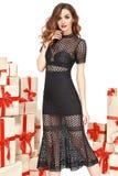 Beautiful sexy woman clothes box gift fashion style Royalty Free Stock Image