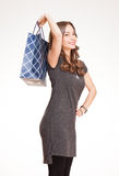 Beautiful young shopper. Royalty Free Stock Image