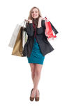 Beautiful and young shopping lady Royalty Free Stock Photo