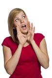 Beautiful young shouting woman Stock Photography