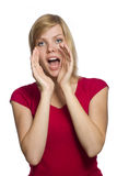 Beautiful young shouting woman Royalty Free Stock Image