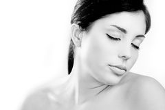 Beautiful young skin care model Royalty Free Stock Photography