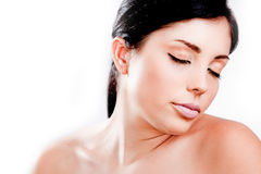 Beautiful young skin care model Royalty Free Stock Images