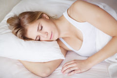 Beautiful young sleeping girl Stock Photo