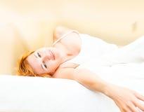 Beautiful young sleeping woman Stock Photos