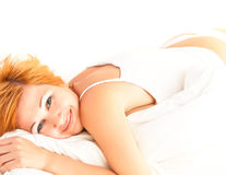 Beautiful young sleeping woman Royalty Free Stock Photography