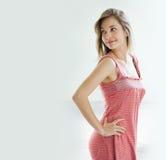 Beautiful young slender girl posing. Stock Image