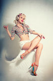 Pin-up girl. American style Royalty Free Stock Photography