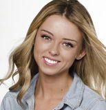 Beautiful young smiling blonde woman Royalty Free Stock Photo