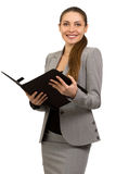 Beautiful young  smiling business woman Royalty Free Stock Images