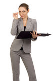 Beautiful young  smiling business woman Stock Photo