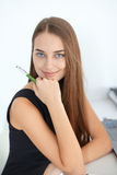 Beautiful young smiling business woman Stock Image
