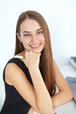 Beautiful young smiling business woman Stock Images