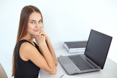 Beautiful young smiling business woman Stock Photography