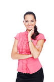 Beautiful young smiling businesswoman Royalty Free Stock Photography
