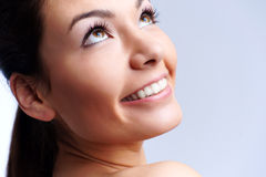 Beautiful young smiling woman Stock Photos