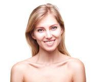 Beautiful young smiling woman with clean fresh skin Royalty Free Stock Images