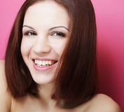 Beautiful young smiling woman with clean skin Royalty Free Stock Image