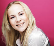 Beautiful young smiling woman with clean skin Stock Photography