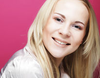 Beautiful young smiling woman with clean skin Stock Photos