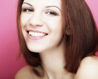 Beautiful young smiling woman with clean skin Royalty Free Stock Images