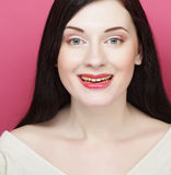 Beautiful young smiling woman with clean skin Royalty Free Stock Photos