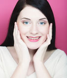 Beautiful young smiling woman with clean skin Stock Images