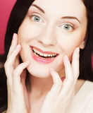 Beautiful young smiling woman with clean skin Royalty Free Stock Photography