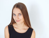 Beautiful young smiling woman Stock Photo