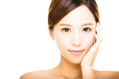 beautiful young smiling  woman  face Stock Photography