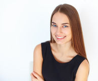 Beautiful young smiling woman Stock Images