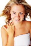 Beautiful Young Spa Vrouw op Wit Royalty-vrije Stock Afbeeldingen