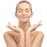 Beautiful young spa woman Stock Photography