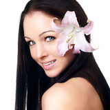 Beautiful Young Spa Woman portrait Royalty Free Stock Images